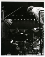Janos Starker with cello in rehearsal, 1986 [descriptive]