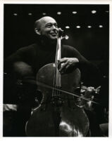 Janos Starker playing the cello, 1986 [descriptive]