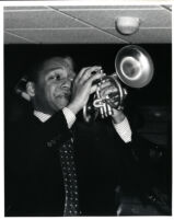 Wynton Marsalis playing the trumpet, 1986 [descriptive]