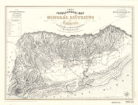1853 topographical map of the mineral districts of California : being the first map ever published from actual survey