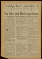 Deutsches Nachrichtenbüro. 5 Jahrg., Nr. 241, 1938 February 20