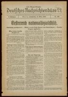 Deutsches Nachrichtenbüro. 5 Jahrg., Nr. 366, 1938 March 12, Erste Morgen-Ausgabe