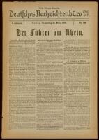 Deutsches Nachrichtenbüro. 5 Jahrg., Nr. 519, 1938 March 31, Erste Morgen-Ausgabe