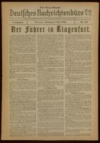 Deutsches Nachrichtenbüro. 5 Jahrg., Nr. 558, 1938 April 5, Erste Morgen-Ausgabe
