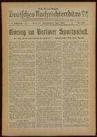 Deutsches Nachrichtenbüro. 5 Jahrg., Nr. 596, 1938 April 9, Erste Morgen-Ausgabe