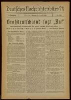 Deutsches Nachrichtenbüro. 5 Jahrg., Nr. 610, 1938 April 11