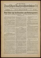 Deutsches Nachrichtenbüro. 5 Jahrg., Nr. 868, 1938 May 27, Erste Morgen-Ausgabe