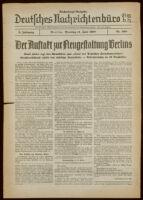 Deutsches Nachrichtenbüro. 5 Jahrg., Nr. 968, 1938 June 14, Nachmittags-Ausgabe