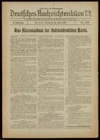 Deutsches Nachrichtenbüro. 5 Jahrg., Nr. 1150, 1938 July 19, Nachmittags- und Abend-Ausgabe