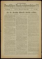 Deutsches Nachrichtenbüro. 5 Jahrg., Nr. 1306, 1938 August 22, Erste Morgen-Ausgabe