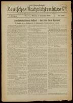 Deutsches Nachrichtenbüro. 5 Jahrg., Nr. 1389, 1938 September 5, Erste Morgen-Ausgabe