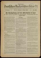 Deutsches Nachrichtenbüro. 5 Jahrg., Nr. 1600, 1938 October 3, Nacht-Ausgabe