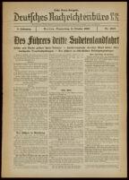 Deutsches Nachrichtenbüro. 5 Jahrg., Nr. 1627, 1938 October 6, Erste Nacht-Ausgabe