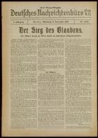 Deutsches Nachrichtenbüro. 5 Jahrg., Nr. 1822, 1938 November 9, Erste Morgen-Ausgabe