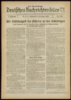 Deutsches Nachrichtenbüro. 5 Jahrg., Nr. 1978, 1938 December 3, Erste Morgen-Ausgabe