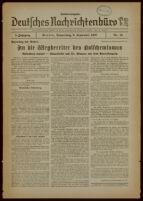 """Deutsches Nachrichtenbüro. 4 Jahrg., 1937 September 9, Sonder-Ausgabe Nr. 16: """"Parteitag der Arbeit"""""""