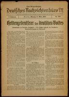 Deutsches Nachrichtenbüro. 7 Jahrg., Nr. 232, 1940 March 11, Erste Morgen-Ausgabe