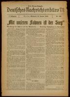 Deutsches Nachrichtenbüro. 7 Jahrg., Nr. 106, 1940 January 31, Erste Morgen-Ausgabe