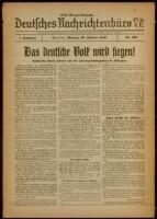 Deutsches Nachrichtenbüro. 7 Jahrg., Nr. 190, 1940 February 26, Erste Morgen-Ausgabe