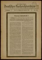Deutsches Nachrichtenbüro. 4 Jahrg., Nr. 1722, 1937 December 20, Erste Mittags-Ausgabe