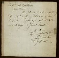 [Autograph letter from R. B. Fisher]
