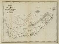 Kaart van Natalia en van Afrika's zuidhoek opgemaakt in 1846 door G. Lauts