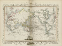 The world on Mercator projection shewing the voyages of Captain Cook round the world