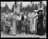 Women at garden party, Santa Monica, 1934