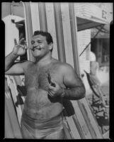 Wrestler, Santa Monica, [1930s?]