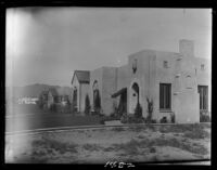 Adelbert and Clara Bartlett residence, side view, Santa Monica, 1928