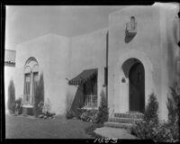Adelbert and Clara Bartlett residence, facade, Santa Monica, 1928
