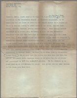 Typewritten description of photograph of James E. Erwin, San Bernardino County, 1929