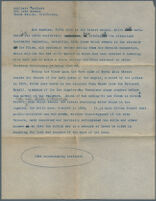 Typewritten description of photographs of Los Angeles Plaza buildings, Los Angeles, 1929