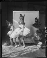 Patsy and Peggy Mullane dressed for Halloween, circa 1930