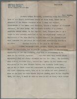 Typewritten description of photograph[s?] of Captain Arthur Tennyson at abandoned plaster workshop