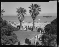 Beach and park, Santa Barbara, 1933