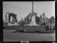 """La Paloma"" float in the Tournament of Roses Parade, Pasadena, 1927"