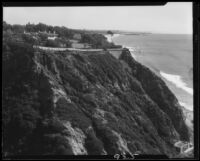 Mary Virginia McCormick residence and cliffs, Pacific Palisades, 1930