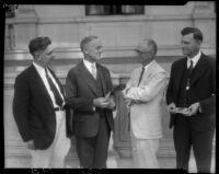 Charles Vickrey and three men, [1932?]