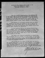 Photograph of typewritten speech by William Gibbs McAdoo at the Golden Rule Foundation Pageant, 1930