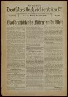Deutsches Nachrichtenbüro. 6 Jahrg., Nr. 162, 1939 January 30, Erste Nacht-Ausgabe