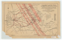 Bret Harte trail, map showing the land of romance and gold immortalized by Bret Harte & Mark Twain