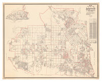 1936-1937 precinct map of Los Angeles City, San Fernando Valley district and vicinity