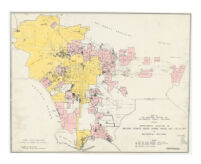 Map of the southern portion of Los Angeles County, California, showing approximate location of building permits issued during period Jan. 1-Oct. 8, 1937 for residential buildings