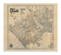Map of Beverly Hills, West Hollywood, Santa Monica, Culver City