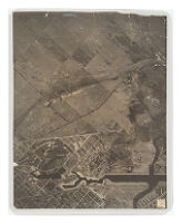 Aerial View of Long Beach Black and White Photograph