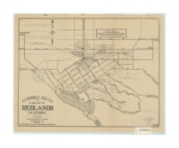 Automobile roads in and out of Redlands, California : showing boulevards and highways