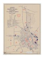 A plan of the city of Santa Clara, California