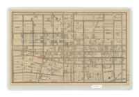A map of the business section of Los Angeles