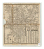 The Latest City Map of Los Angeles, Complements Bekins Van and Storage Company